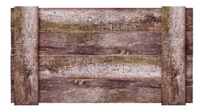 Wood frame. Old rustic wood frame sample your text Stock Images