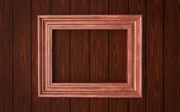 Wood Frame On Paneling Royalty Free Stock Images