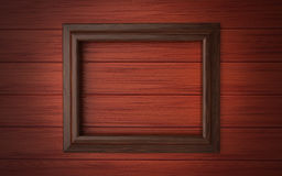 Wood frame on paneling Royalty Free Stock Photos