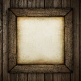 Wood frame with paper fill Royalty Free Stock Photo