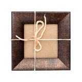 Wood frame with paper fill and rope Royalty Free Stock Photos