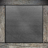 Wood frame with paper Stock Photography