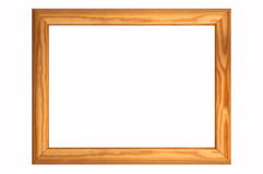 A wood frame. Stock Image