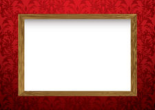 Wood frame on red Royalty Free Stock Photo