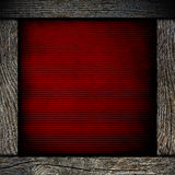 Wood frame with red paper Royalty Free Stock Photos