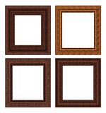 Wood frame set Royalty Free Stock Photos