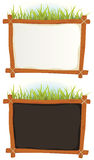 Wood Frame With Sign royalty free illustration