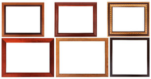 Wood frame with simple design. royalty free stock photography