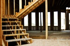 Wood Frame Stairs Home Construction