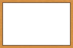 Wood frame texture. Background vector Stock Photos