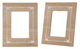 Wood frame vintage style isolated. royalty free stock photos