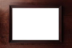 Wood frame. On the wood wall royalty free stock image