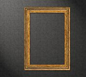 Wood frame on a wall - high resolution Royalty Free Stock Photos