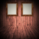 Wood frame wall Royalty Free Stock Photos