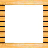 Wood frame on white Stock Photography