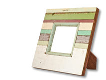 Wood frame in white background Royalty Free Stock Photography