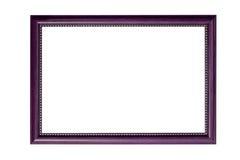 Wood frame white background stock photography