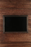 Wood frame on wooden background royalty free stock photos