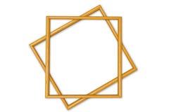 Wood frame. Yellow wood frame  isolated on white background Stock Photography