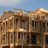 Wood framed house Royalty Free Stock Image