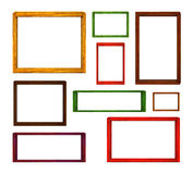 Wood frames set. Color of wood frames set Royalty Free Stock Photography