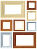 Wood frames Stock Photos