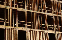 Wood framing. For commercial construction Royalty Free Stock Photo