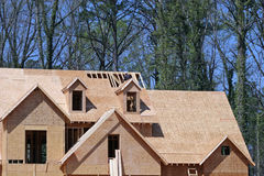 Wood Framing. Wood framed new house construction Royalty Free Stock Photography