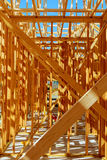 Wood framing new house under construction Stock Image
