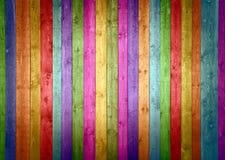 wood färgrika plankor Arkivbilder