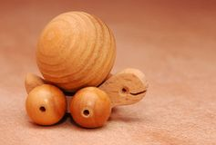 Wood frog toy Royalty Free Stock Images