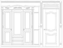 Wood furniture blueprint Stock Photos