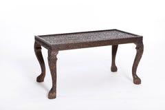 wood furniture desk on white Royalty Free Stock Photos