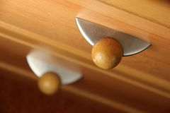 Wood furniture detail Royalty Free Stock Photos