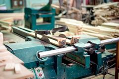 Wood and furniture production plant, industrial factory Royalty Free Stock Photo