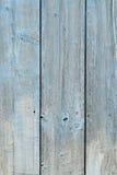 Wood gammalt för plankabakgrund som målas på gränsen - blått, starkt sjaskigt, ut ur färg Royaltyfria Foton
