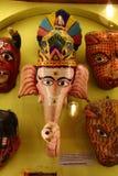 Wood Ganesha mask, India Royalty Free Stock Photo