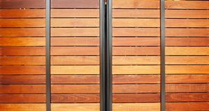 Wood Garage Doors Stock Images