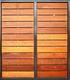 Wood Garage Doors Vertical Stock Image