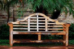Wood Garden bench Stock Images