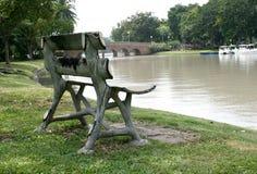 Wood garden chair Stock Image