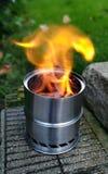 Wood gas burning Stock Photography