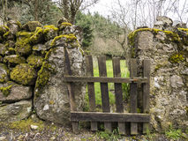 Wood gate in countryside Stock Photos