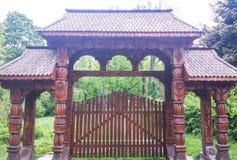 Wood gate Stock Photo