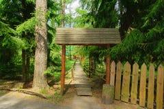 Wood gate Royalty Free Stock Photo