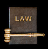 Wood gavel and book Royalty Free Stock Photo