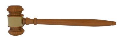 Wood gavel on white background Stock Photography
