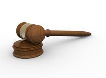 Wood gavel on white background Stock Image
