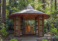 Wood gazebo Stock Photo