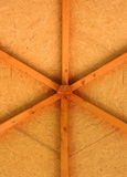 Wood gazebo roof detail Stock Images